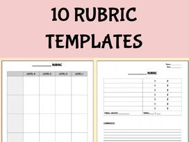 Blank Rubric Template Editable in Google Docs