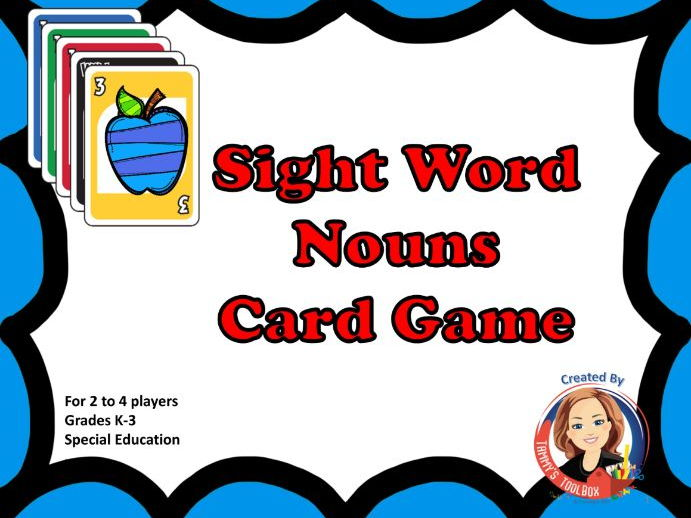 Sight Word Review Game with Nouns