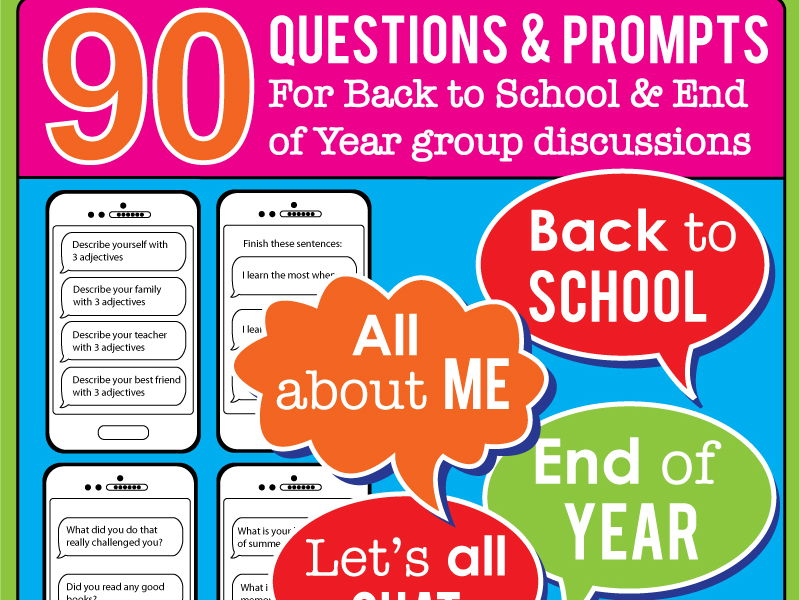 Back to School All About Me Game - 90 questions to get kids talking