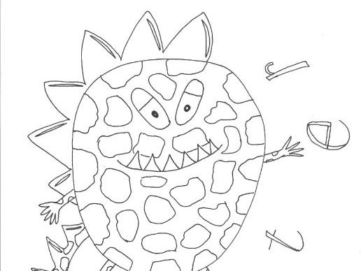 Monsters and Aliens Colouring Page (Creature 2)