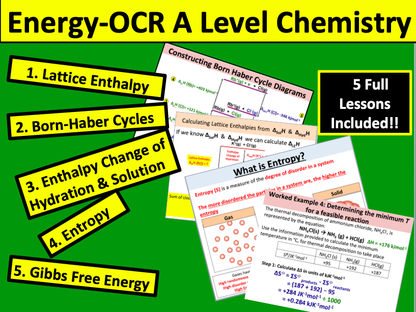 Energy (OCR A Level Chemistry)   Teaching Resources