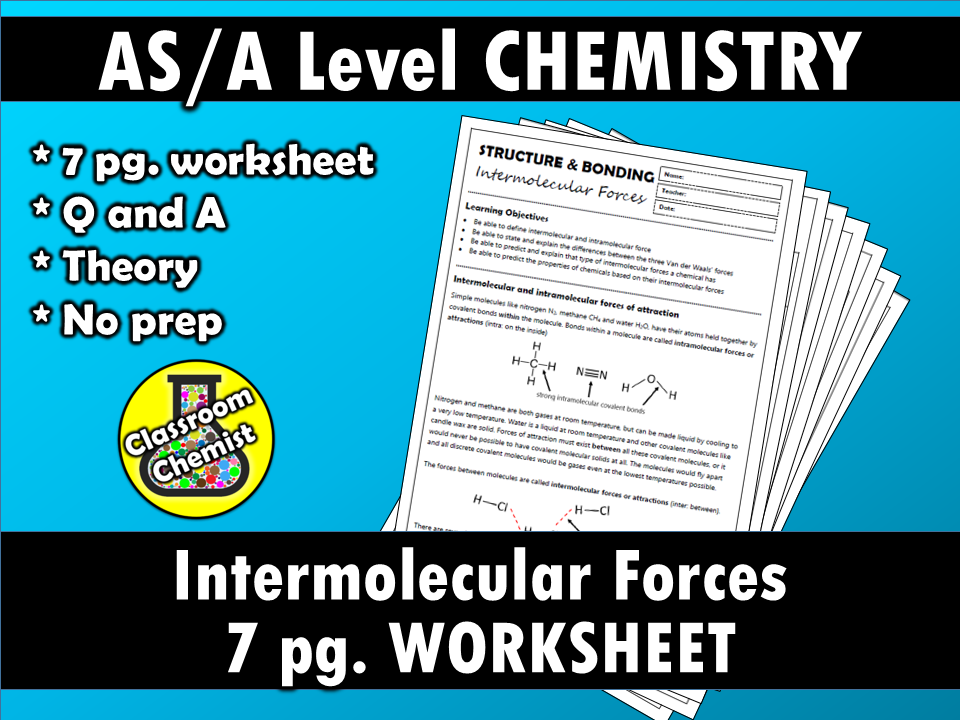 Intermolecular Forces 7 page booklet by ClassroomChemist ...