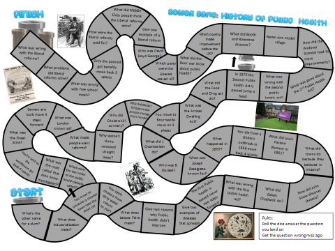 History of Medicine: Public Health Board Game