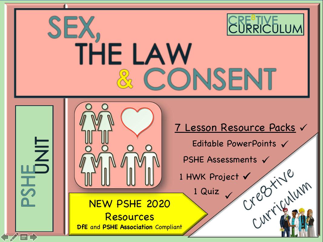 Sex Consent + Law PSHE UNIT