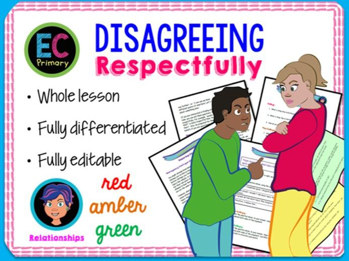 Respect, Disagreements + Differences PSHE