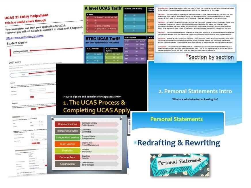 UCAS & Personal Statement bundle for 20-21