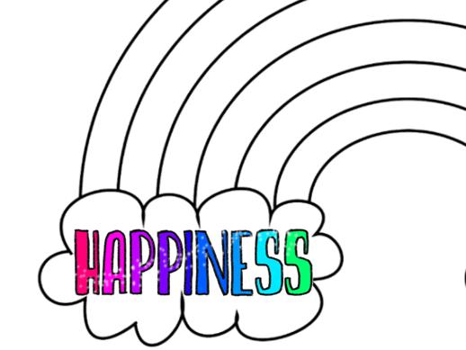 Happiness rainbow template