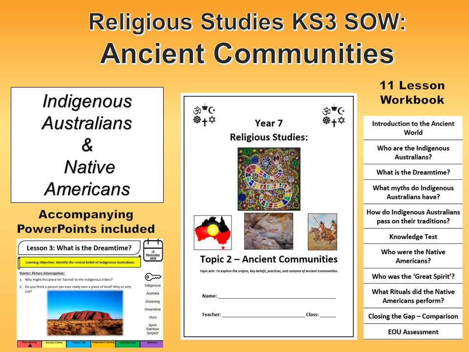 Ancient Communities SOW/Workbook/PPs (Aboriginal / Native Americans)