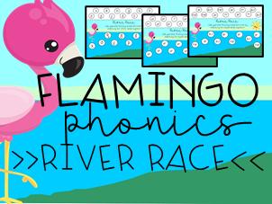 Flamingo Phonics: River Race Alphabet Digraph Matching Game