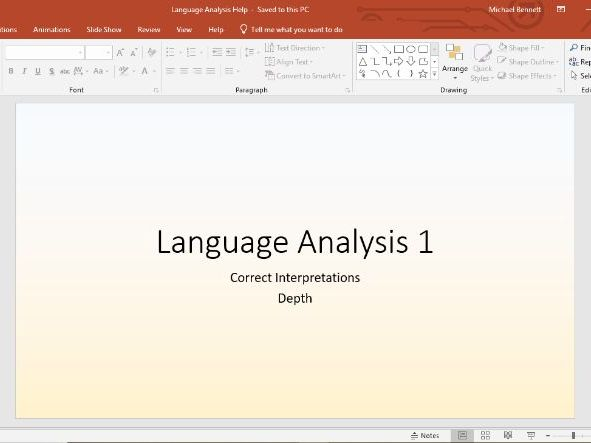 Language Analysis Scheme (~6 lessons)