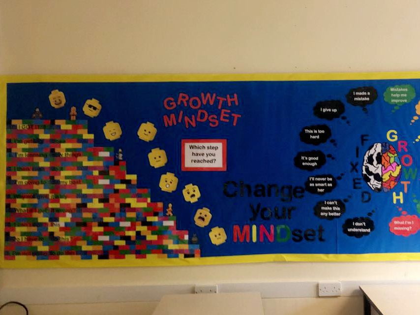 lego themed resilience classroom display by marissa03
