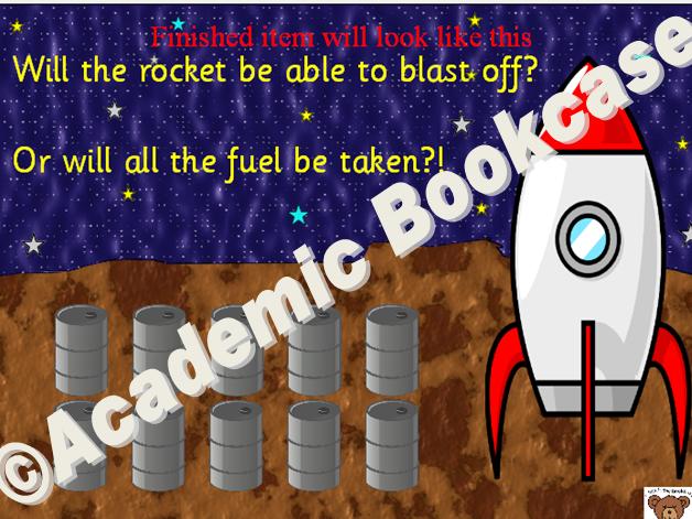 Rocket and fuel hangman