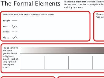 Formal Elements of Art activity sheet