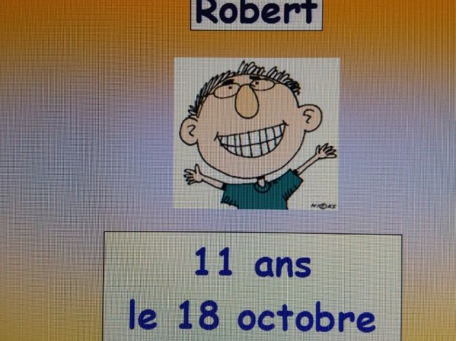 French: Saying ages and birthdays in the first and third person singular