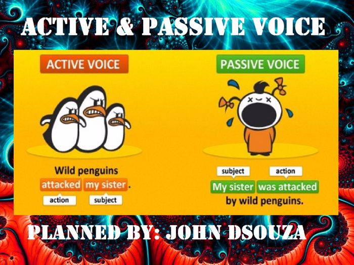 ACTIVE AND PASSIVE VOICE: LESSON PLAN AND WORKSHEETS