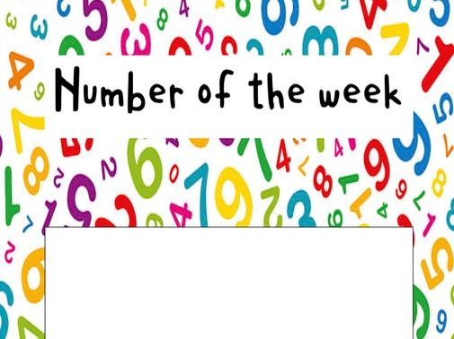 Learning / Focus cards nursery EYFS number, sound, shape and colour of the week