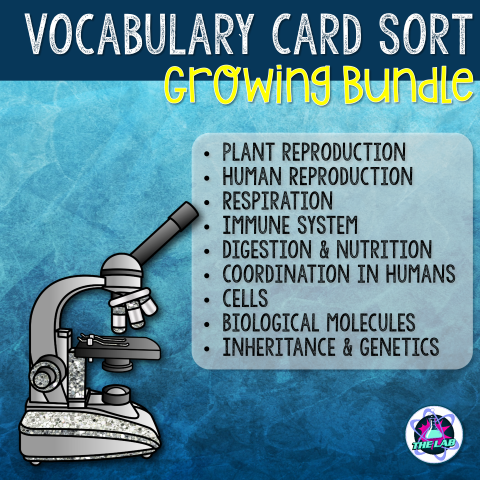 GCSE Biology Vocabulary Card Sort Growing Bundle