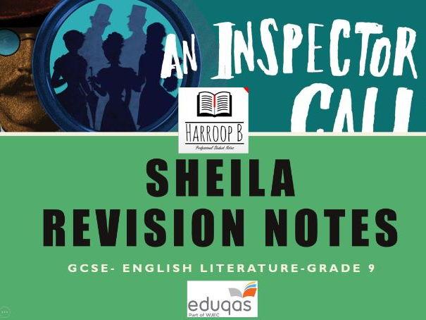 GCSE Eduqas An Inspector Calls - Sheila - Revision Notes - Grade 9