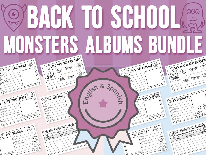 Back to School - Monsters Albums BUNDLE