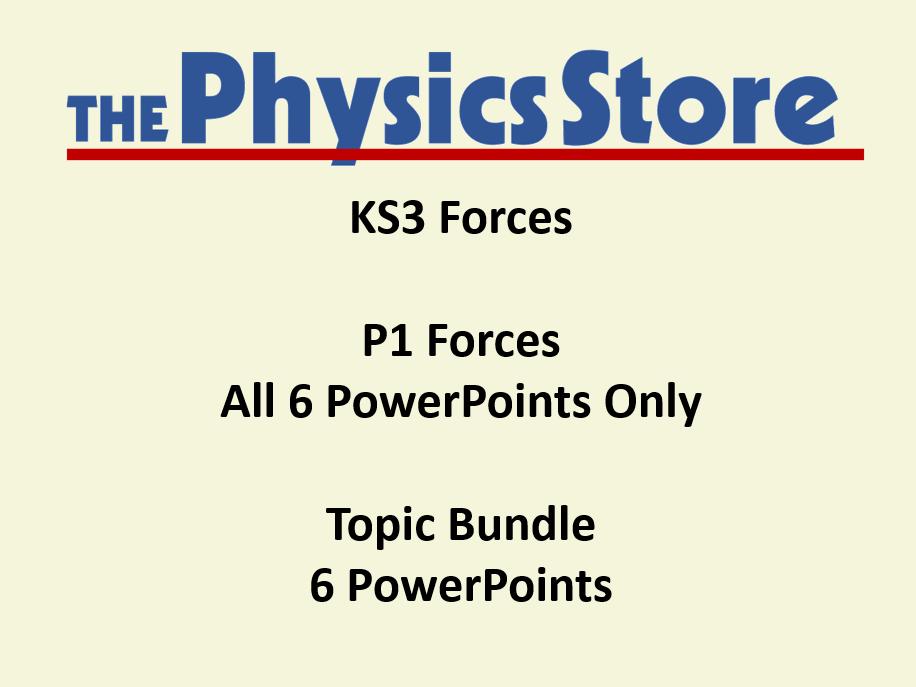 KS3 Physics P1 1 Forces Topic PowerPoints Only Bundle (Non-editable)