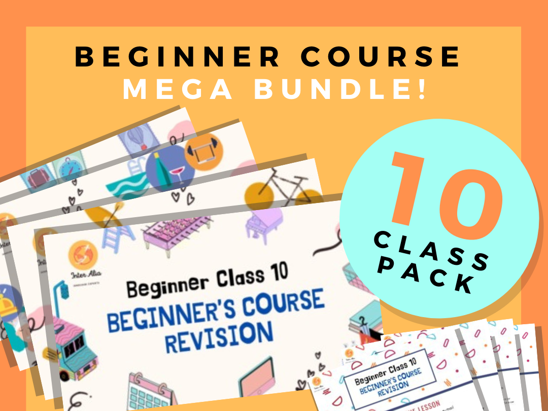 SALE!! MEGA BUNDLE!!! 10 English Beginner Lessons - Whole Course - ESL - TEFL - EFL