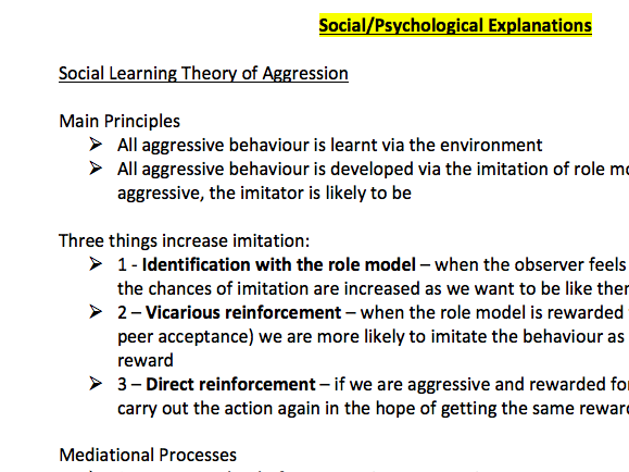 AQA A Level Psychology - ENTIRE SUBJECT