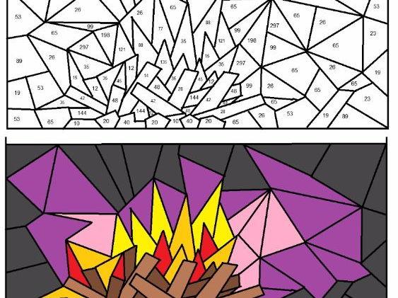 Colour by numbers Factors Multiples Primes