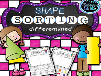 Shape Sorting - Differentiated Worksheets