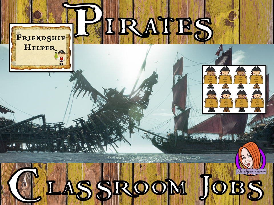 Pirate Classroom Jobs Display