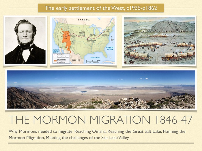 GCSE History of American West in 19th Cent. The Mormon Migration  1846 47