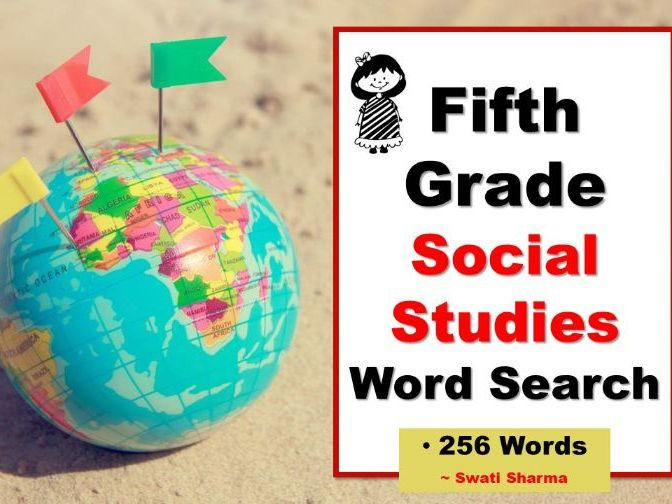 Fifth Grade Social Studies, Word Search Worksheets
