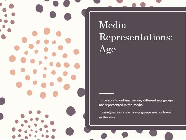 AQA Sociology Media: Representations of Age A Level