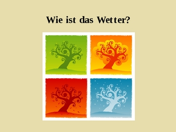Wie ist das Wetter (Weather in German) power point