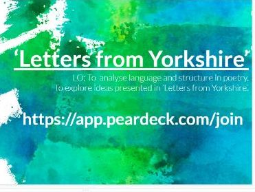 Letters From Yorkshire