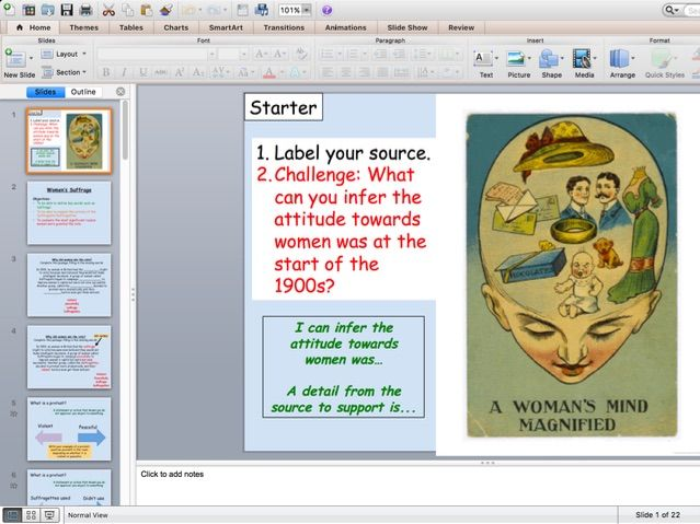 Women's Suffrage Whole Lesson/ Resources