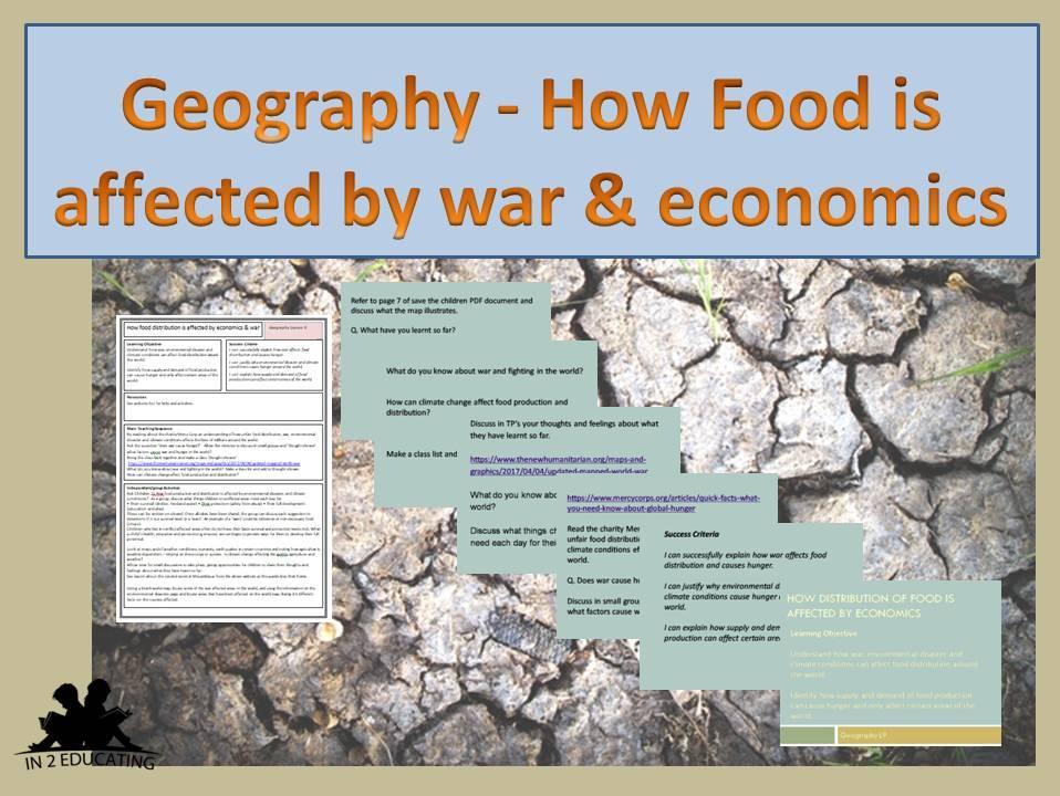 KS2 Geography Food distribution & war