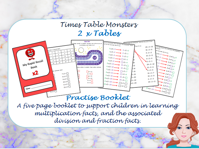 2 x Table Practise Booklet
