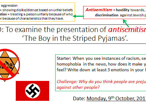 The Boy In The Striped Pyjamas Chapter Antisemitism By