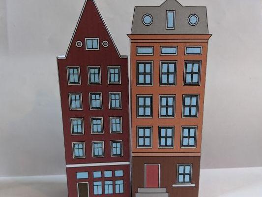 Amsterdam Canal Houses on Adobe Illustrator