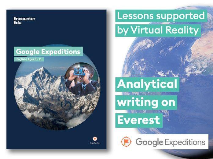 Analytical Writing #GoogleExpeditions Lesson KS3 KS4