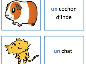 French Matching Animal Cards (Tu as un animal?)