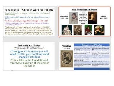 The Renaissance - Vesalius, Harvey, Paré, Change, and Continuity