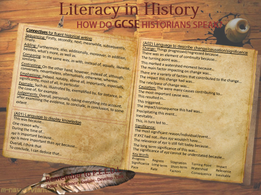 Literacy Mat for History