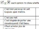 French reading task: opinions of school uniform