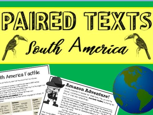 Text comparisons - SOUTH AMERICA - Literal, Inference, Meaning & Summary questions