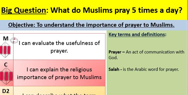 Salah (Prayer) lesson