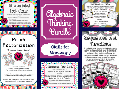 Algebraic Thinking Bundle
