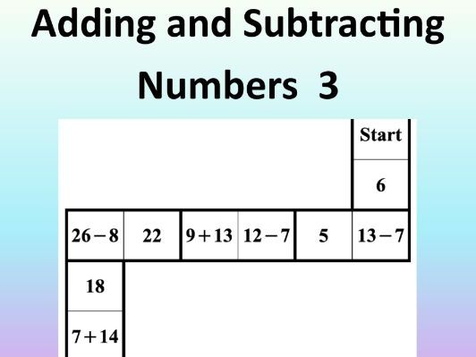 Adding and Subtracting Numbers 3 – Math Puzzle