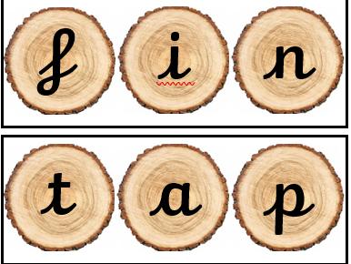Phase 2 CVC words (cursive)