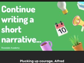 Creative Narrative Writing - A Short Paragraph full of Anticipation   GCSE / IGCSE AQA - Edexcel